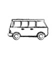 vintage van vehicle vector image vector image