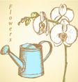 Watheringcan Flowers vector image vector image
