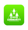 web community icon green vector image vector image