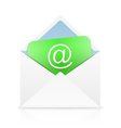 White open envelope vector image vector image