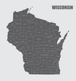 wisconsin counties map vector image vector image
