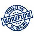 workflow blue round grunge stamp vector image vector image