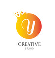 y letter logo design y icon colorful and modern vector image vector image