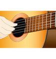 A musician with the classical guitar vector image vector image