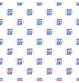 american constitution day pattern seamless vector image