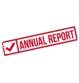 Annual Report rubber stamp vector image