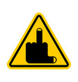 attention coarseness is prohibited yellow vector image