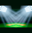 Background for posters night baseball stadium in
