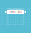 banner children day style background vector image vector image