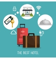 best hotel set services icons vector image vector image