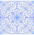 Blue geometric floral pattern vector image vector image