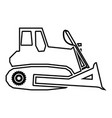 bulldozer icon black color flat style simple image vector image