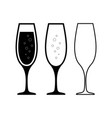 champagne glasses icons champagne glasses set vector image