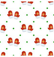 christmas mitten seamless pattern winter holiday vector image vector image