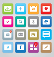 Clean and simple icons vector image vector image