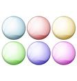Coloured icon balls vector image vector image