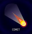 comet icon cartoon style vector image vector image