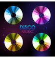 Disco abstract background Set of Record or disk vector image vector image