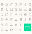 Ecology Outline Icons for web and mobile apps vector image vector image