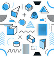 endless pattern simple memphis style shapes vector image