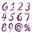 figures and signs with spring flowers vector image vector image