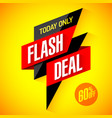flash deal today only flash sale special offer vector image vector image