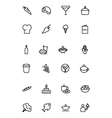 Food Outline Icons 2 vector image vector image