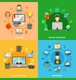four e learning icon set vector image vector image