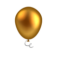 golden balloon isolated on white background vector image