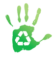 Handprint recycle vector image vector image