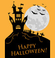 happy halloween a halloween cat in a witch hat vector image