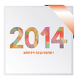 Happy new year 2014 card1 vector image vector image