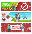 insects pest control aerial insecticide service vector image