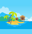 island and tropic vacations vector image