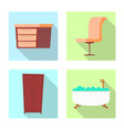 Isolated object of furniture and apartment icon