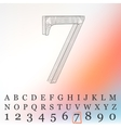low poly numbers font Polygon number vector image vector image