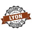 lyon round ribbon seal vector image vector image
