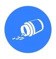 Medicines icon black Single medicine icon from vector image vector image