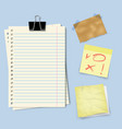 notes paper set vector image