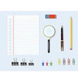 office supplies on the table vector image