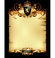 ornate heraldic frame vector image vector image