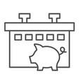 pig farm thin line icon animal vector image vector image