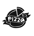 Pizza flat icon logo template vector image vector image