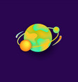 planet in space for a universe astronomy design vector image vector image