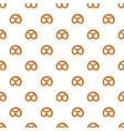 pretzel for oktoberfest pattern vector image vector image