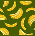 realistic detailed fruit banana seamless pattern vector image