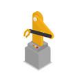 robotic arm isometric 3d icon vector image