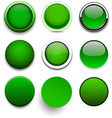 Round green icons vector image vector image