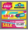 Sale banners design set vector image