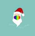 santa claus wear lgbt colorful surgical mask logo vector image vector image